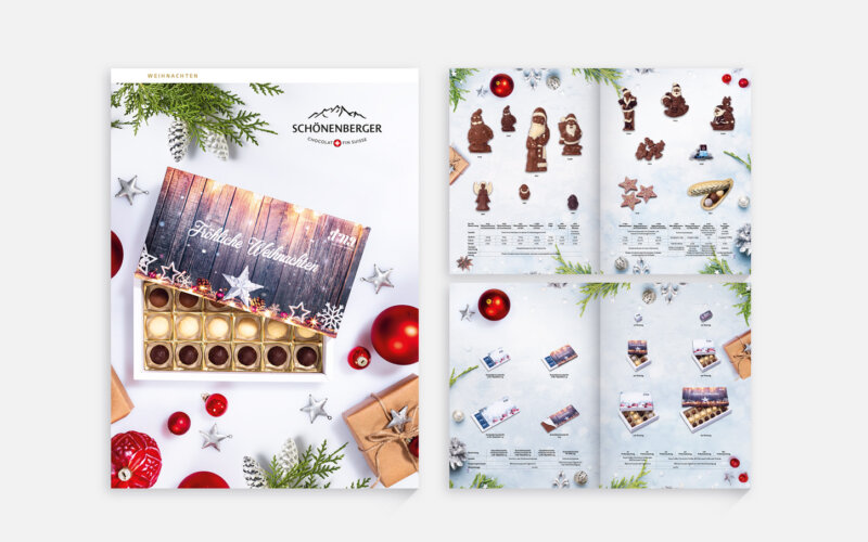 Salesfolder Chocolat Schönenberger Weihnachten